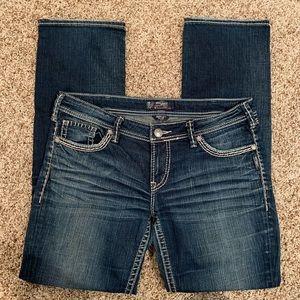 Silver Berkley Flap Jeans Dark Wash Boot Cut